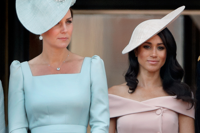 Kate Middleton and Meghan Markle at Trooping the Colour